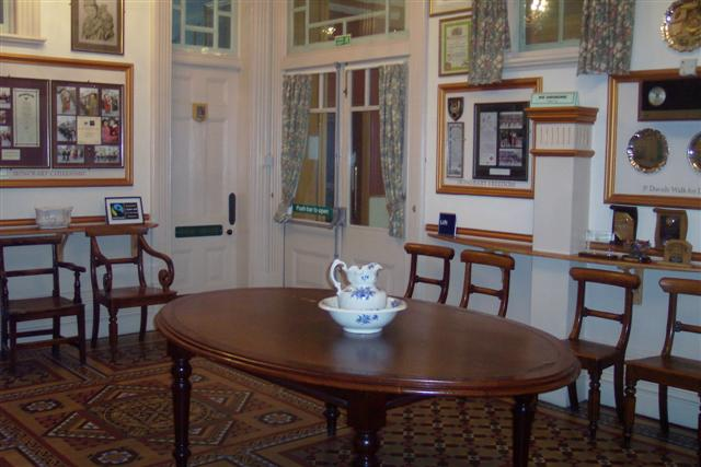The reception area of the Guildhall