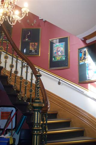 The stairs at the Guildhall